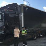 La Guardia Civil intercepta a un camionero que septuplicaba la tasa de alcoholemia en Vilaboa