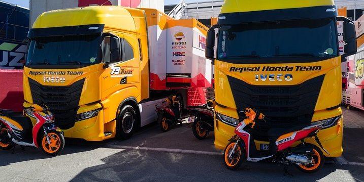 Los Iveco-Sway Honda Repsol imparables de los Hermanos Márquez en el Circuito de Montmeló