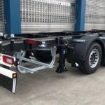 Schmitz Cargobull ha presentado un nuevo sistema de transporte intermodal compuesto por dos remolques portacontenedores y una caja móvil