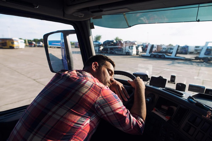 sleepy truck driver