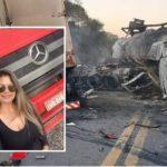 Fallece en un terrible accidente la camionera Carla Geovana Alvarez