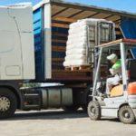 64987225 Loading Werken Lader Van De Vorkheftruck Bewegende Pall 150x150