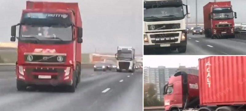 Un camión sin control recorre kilómetros, después de que su conductor falleciera al volante.