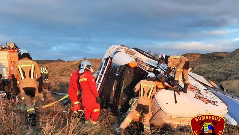 accidente mortal de un camionero en tarazona 1