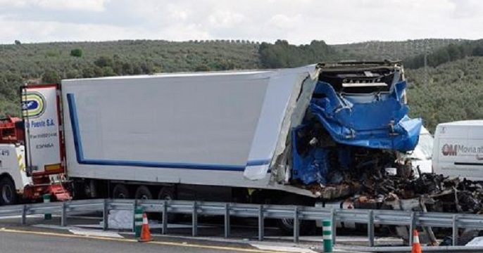 albolote camion accidente