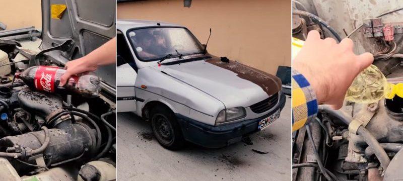 Pusieron Coca-Cola y aceite de cocina en un motor Dacia 1310. Lo que siguió superó cualquier imaginación