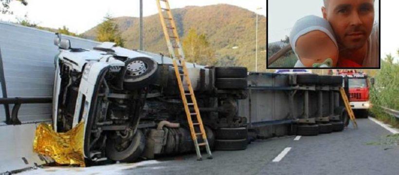 Fallece un camionero de 44 años a causa de la carga mal asegurada. Deja esposa y una niña de corta edad.