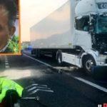 Homenaje a «El Poeta», un camionero de 51 años muy querido por todos que murió en la A1 Módena