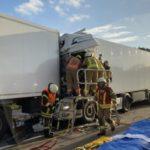 Colisión de 5 camiones en Alemania: Un joven conductor de 30 años muerto y otro de 33 en estado crítico
