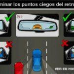 La Guardia Civil te explica como eliminar los puntos ciegos del retrovisor.