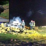Muere un transportista calcinado en su coche tras atropellar a un jabalí en Palencia: deja mujer y dos hijas