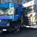 Tres camioneros resultaron gravemente heridos en la A1 cerca de Ascheberg