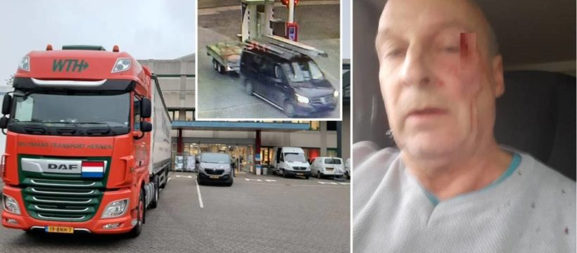 Dos hombres propinan una paliza a un camionero, porque chocaron contra el camión en una rotonda de Bijsterhuizen