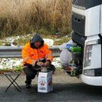 Un camionero lituano vivió en la cabina durante 5 meses sin volver a Lituania