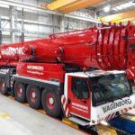 El fabricante alemán Liebherr, presenta el último modelo de una grúa de 450 toneladas.