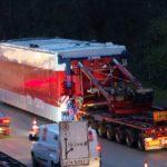 Un camión de Transporte Excepcional  con escolta, daña  cinco puentes en el camino a Hamburgo