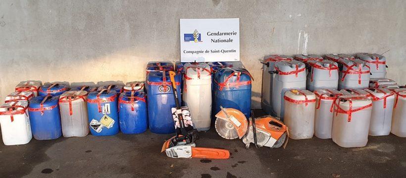 Los Gendarmes incautan más de 200 bidones de gasoil robado en la región en las ultimas semanas