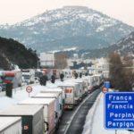 Cataluña ha informado su decisión de prohibir la circulación de camiones como consecuencia de la previsión de nevadas