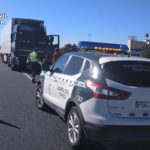 Dos camioneros evitan la tragedia al parar la circulación debido a otro que circulaba ebrio contradireccion en la A7 Totana