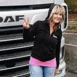 Camionera Chrystelle, «Reina de la carretera» con sus 44 toneladas