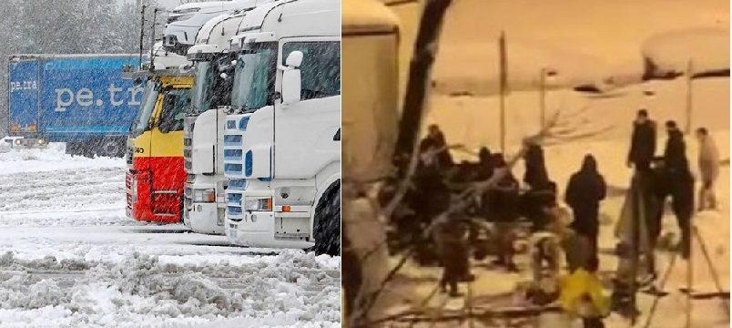 Saquean un camión con 20.000 Kg comida en plena nevada en la M-30 de Madrid