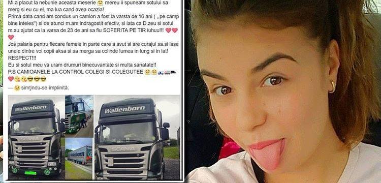 Una mujer rumana de 23 años, de las camioneras más jóvenes de Europa: 'Desde entonces me he enamorado de verdad'