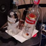 Cazado con la tarjeta del tacógrafo sin insertar,  y dos botellas de Vodka en la cabina