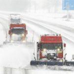 560 camiones embolsados por la nieve en la AP-1 en Briviesca, Ameyugo y Miranda de Ebro (Burgos) y en la A-1 a la altura de Lerma