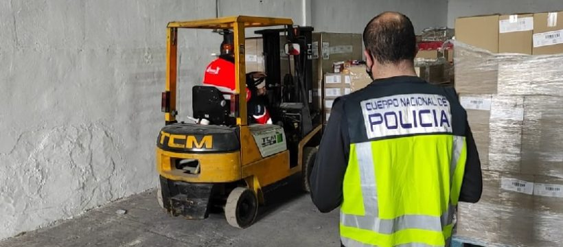 policia nacional cargamento chocolate