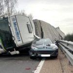 Detenido el conductor de un camión articulado por homicidio imprudente en el accidente mortal en la A-62