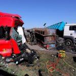 Fallece un camionero al final de un atasco en la A4 Dresde. Colisionaron varios camiones.