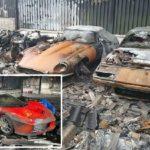 Arde una colección privada de decenas de superdeportivos (Ferrari, McLaren, Porsche, …)