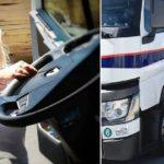 La camionera de 20 años y 500 caballos de fuerza: cruza las carreteras como la «Bomba» rubia conductora de camiones