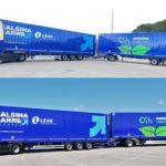 Calsina Carré: Primera empresa en Catalunya con dúo tráiler de ensayo, 33 metros de largo y 70 toneladas.