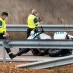 Fallece un motorista de la Guardia Civil al estrellarse contra el «Guardarraíl» en la autovía A-62, en Sancti Spíritus