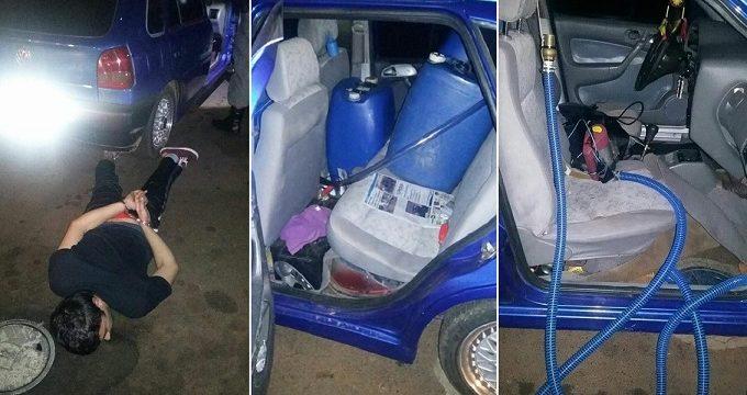 Robaba combustible a estaciones de servicio desde un «agujero» en el suelo de su coche