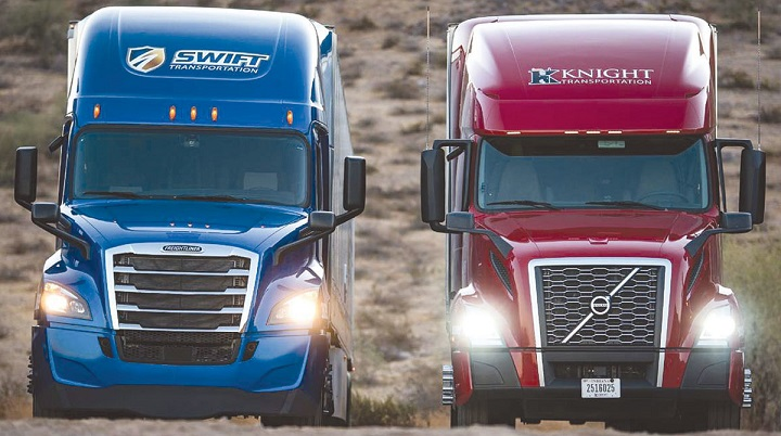 Knight Swift promove aumento salarial em busca de novos caminhoneiros nos Estados Unidos