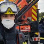Rescatan al conductor de  22 años de un camión de escombros accidentado en M-40