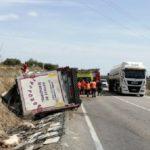 Accidente mortal de un camionero de 37 años en la N-122 entre Bulbuente y Maleján