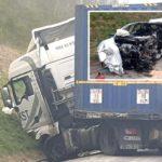 Conductor de camión hospitalizado en estado de shock, después de chocar contra un automóvil que ingresaba en dirección opuesta en Francia.