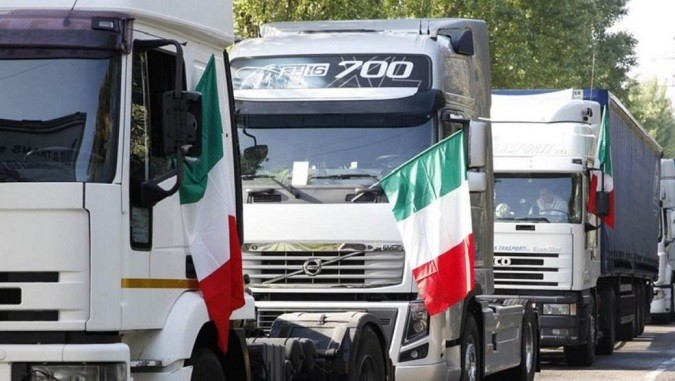 Autotrasporto camion italia