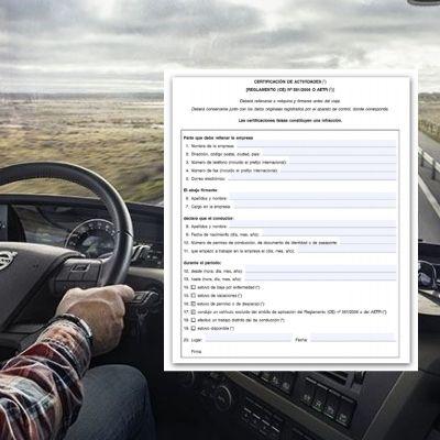 Qué es el certificado de actividades del conductor