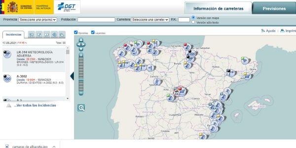 mapa de trafico de la dgt
