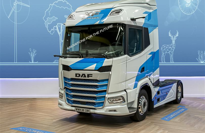 1. New Generation DAF XF prototype featuring hydrogen technology