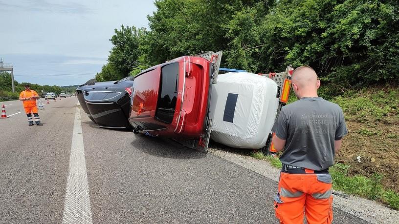 Unfall A8 Karlsbad