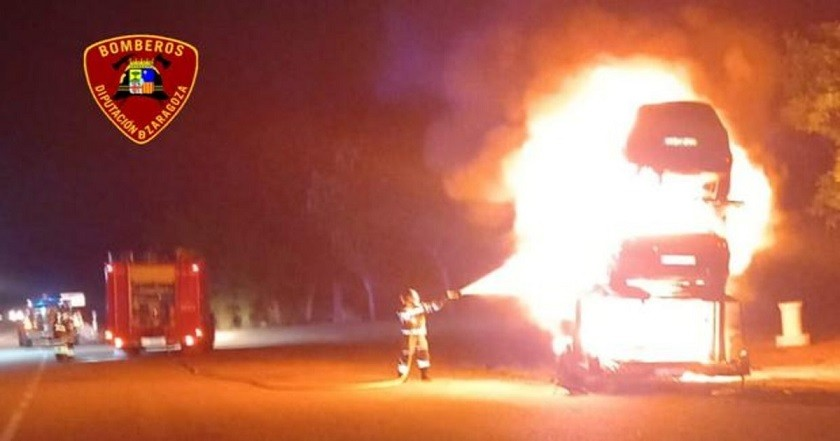 aragon incendio coches ktpF