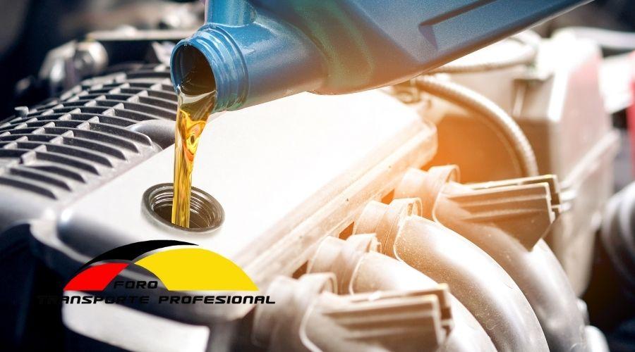 Cambios de aceite y de filtro de aceite en un camión